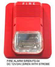 Fs-04, cc 12v 24v sirena di allarme incendio, luce stroboscopica sirena