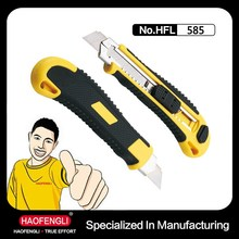 Plastic ABS and PPR Utility Safety Cutter Knife With 3 Blades Series