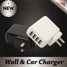 New 5V 4A 4 Port Multiple USB Wall Charger for Cell Phone