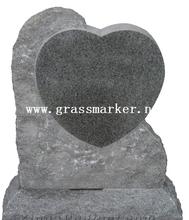 New American Monuemnt Heart Type, Grey Granite Monument & Tombstone