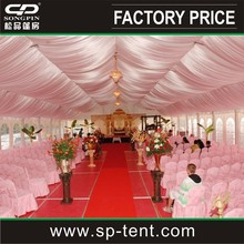 high peak decorated canopy 25x30m for outdoor party wedding ceremony event