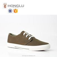 2015 lace up canvas valvanized men shoes green grey