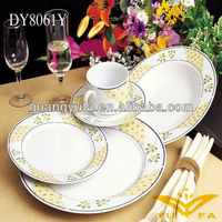 New design 2013 round shape with decal \30pcs dinnerware set with ceramic homeware
