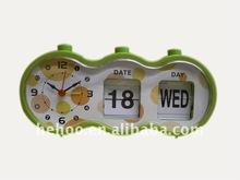 retro flip alarm clock / Desk calendar clock