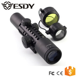 Military 4x28E Illuminated w10-20mm Spotting Air Gun Rifle Scope