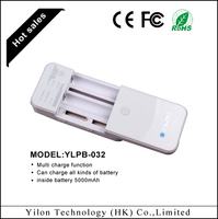 2015 multi function 5000mah universal cell phone battery charger