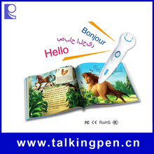 Cute Appearance Audio Books with Digital Smart Talking Pen for Kids Learning English