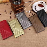 2015 High quality pu leather wallet design belt case for iphone 6/6 plus