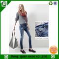 ocoo diseño limpio de la mujer denim jean slim nuevo diseño de jean denim pant