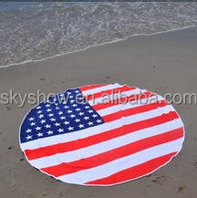 Famous brand round beach towel