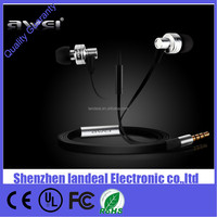 Factory price Awei ES900i super Bass stereo In ear Earphone earpiece headset with Mic for iphone 6 6plus samsung galaxy s6