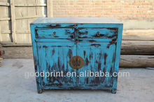 Antique Vintage French Painted Wooden Cabinet Cupboard Shabby Chic France