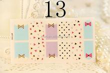 2012 new design printing silk nail sticker