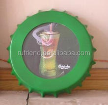 Plastic advertising guiness beer sign vacuum forming light box