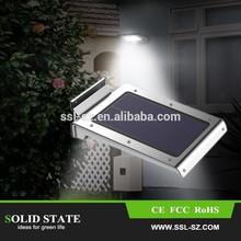 vendita calda in acciaio inox ha condotto la luce solare del giardino luce esterna sensore di movimento della lampada