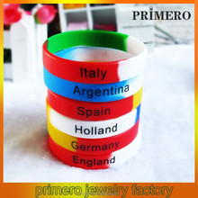 PRIMERO Men's Sports silicone wristbands bracelet football team bracelet