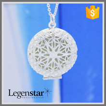Fashion China Wholesale Silver Luminous Necklace Perfume Locket Floating Locket Open Locket PN-002