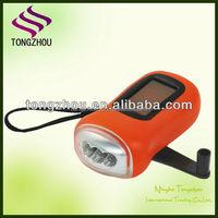 3 LED Solar power torch,Dynamo solar flashlight,Solar led torch