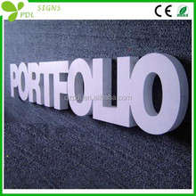 Professional solid,empty, baking finish pvc indoor board signs