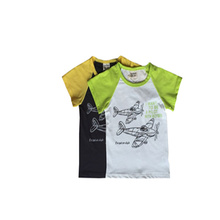 Export best sell children handsome boys cotton T-shirt