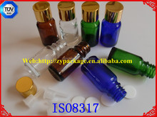 30ml 50ml cobalt blue coated cosmetic organic lotion glass bottle and cream jar with silver pump cap