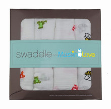 "100% Cotton 47x47"" Baby Muslin Swaddle Newborn Wrap"