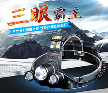 Hotsale 3t6 Headlamp High Power 18650 Powered Rechargeable Led Headlight For Outdoor Sports