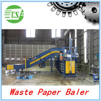 Waste Cardboard Recycling Machine Waste Paper Baler With Conveyor