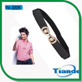cinturón de tiande para las mujeres de punto negro cinturón de tela
