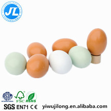 wooden simulation eggs, DIY painting graffiti toys, children pretend play toys