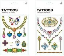 Fashion Jewelry Gold Leaf Tattoo Sticker, Necklace Tattoo Gifts Tattoo Artist For kids