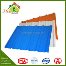 Suitable market prices long term color stability plastic roofing materials