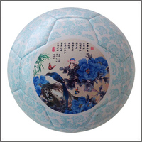 Promotional High Quality Foam Leather Customized soccer ball/Rubber bladder threaded football