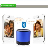 portable stereophonic sound bluetooth speaker with dynamic and rich sound