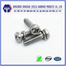 OEM service M2x8 stainless steel sems furniture connecting screws