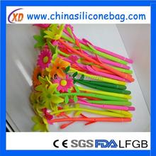 pen silicone material flower pen shape pen for promotion