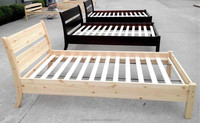 Solid wood children white beautiful king queen bed J-Y-BD016