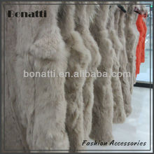 High quality lady's rabbit fur coat and vest