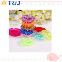 Mix Wholesale Candy Color Headdress Hiar Band Flower Printing Design Telephone Line Elastic Hair Rope