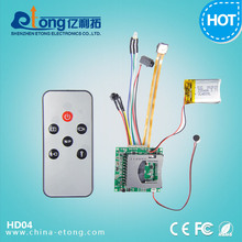 720p DIY mini camera moudule motion detect and audio / video take function by Remote Control