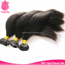 Top quality 6a grade 16 inches straight indian remy hair extensions