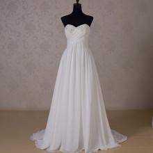 RR1516 Strapless Ivory Empire Waist Chiffon Wedding Dress