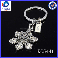 Wholesale New Fashion cool Snowflakes Ornaments metal keychains