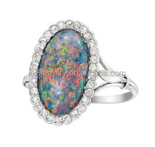 Bottom price new arrival fashion turquoise gemstone ring