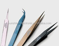 Quality colorful eyebrow tweezer SC-16 Stainless Steel Tweezers for computer mobile phone repair tools