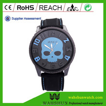 Pirates of the Caribbean hot sale ghost head skull silicone band big dial alloy quartz watch
