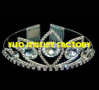 clear rhinestone headband tiara crowns