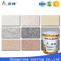 ZXPAINT liquid granite texture effect exterior wall coating