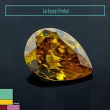 Hot sale aaa teardrop loose diamond stone man made cz stone in Wuzhou