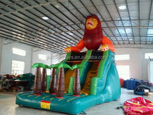2016 outdoor inflatable wet & dry slide / inflatable lion jumping slide,Large lion inflatable slide ,animal inflatable slide